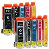 10 Druckerpatronen kompatibel zu Epson 26-XL T2636 passend für Epson Expression Premium XP-510 XP-520 XP-600 XP-605 XP-610 XP-615 XP-620 XP-625 XP-700 XP-710 XP-720 XP-800 XP-810 XP-820