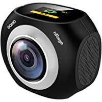 Domo VR Panoramic 360 and 720 Degree Standalone Camera with Mini Tripod nRage Pano 360 with Micro SD Card Slot and Port…