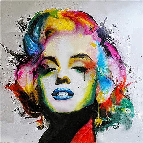 lde malen nach Zahlen,D Diamant malerei Set Hochformat Marilyn Monroe 5d diamant painting Kristall Diamant Stickerei Kreuzstich Kunst Handwerksbedarf für Home Wand Decor 30 x 30 cm ()