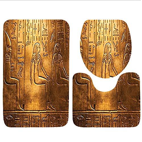 Bag hat Three-Piece Toilet seat pad customEgyptian Collection Egyptian Ancient Art Papyrus Depicting The Horus Eye Design Print Gainsboro Peru Navy Orange Navy Clara Slip