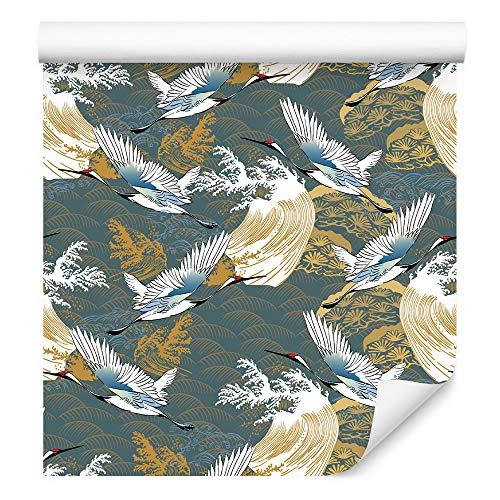 Wallepic Tapete - Fliegende Kraniche Vlies Tiere Vogelschwarm Vogel - 1344022307