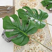 Kicode Artificial plástico Las Hojas de Las Plantas Tortuga de la Hoja de Simulación Decoración Hogareña Flores en Interior Dormitorio Oficina Verde