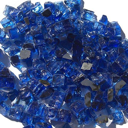 Reflex Flame Glas-Finish: Blue Diamond, Größe: 1,27 cm H x 1,3 cm B x 1,27 cm T
