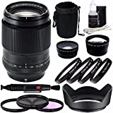 Fujifilm XF 90mm F/2 R LM WR Lens + 52mm 3 Piece Filter Set (UV, CPL, FL) + 52mm +1 +2 +4 +10 Close-up Macro Filter Set With Pouch + 52mm Wide Angle Lens + 52mm 2X Telephoto Lens With Pouch Bundle 3