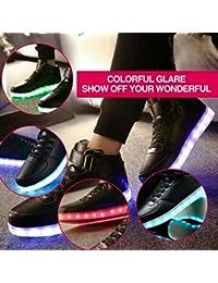 Zapatillas LED para hombre con iluminación superior intermitente y carga USB