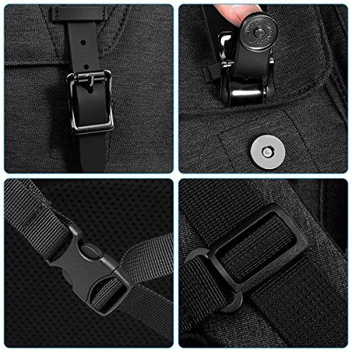 """MOCA Canvas 15.6"""" Black Laptop Backpack Image 8"""