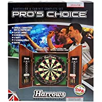 Harrows Pro's ChoiceKit pour jouer aux fléchettes avec cible de 64cm type meuble et 6fléchettes