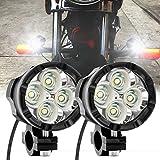 Motorcycle LED Fog Lights Spotlight Work Lights Auxiliary...