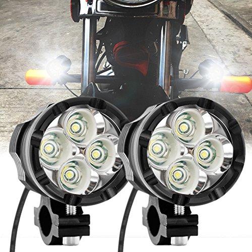 LED Motorrad Nebel Licht Punkt Strahl 40W Weiß Auto Scheinwerfer 12v