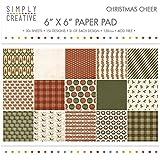 Rayher 60226000Scrap bloque de Christmas Cheer, FSC Mix Cred., 15,2x 15,2cm, 120g/m2, 30bogen