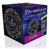 Sternzeichenwürfel Schütze: Sternzeichen-Booklet und Sternzeichenanhänger am Lederband
