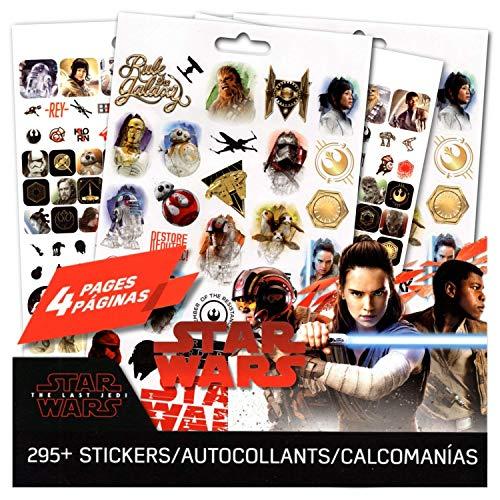 Star Wars Die letzten Jedi Aufkleber ~ 4Seite Star Wars Aufkleber Pad mit über 295Star Wars Sticker