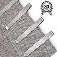 20 Pack Sewing Clips Sets Stainless Steel Hemming Clips 3 inches Measurement Ruler Quilting Supplies for Wonder Clips, Pinning and Marking Accessories