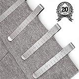 Juego de 20 clips de costura de acero inoxidable de 7,6 cm,regla de medición para...