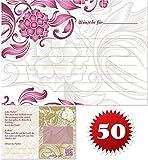 galleryy.net 50 Ballonflugkarten zur Hochzeit GELOCHT, PORTOFREI möglich, Flugkarten für Hochzeitsballons im Set zum Hochzeitsspiel im Ballonflugkartenset - Hochzeit mit Blumen