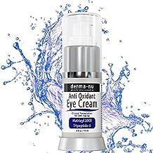 Crema para Ojos Anti-Envejecimiento - El mejor tratamiento para las arrugas de la zona baja de tus ojos, ojeras e hinchazón. Nutre la piel de manera efectiva con CoQ10, Matrixil 3000, aminoácidos, péptidos y vitamina C - .5oz