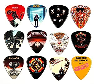 12 x Famous Album Covers Guitar Picks Plectrums