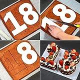 Wuudi Moldes para Tartas, Diseño de Número significativo, Molde para Repostería para Cumpleaños, Aniversario, Accesorios para Tartas, 6inch