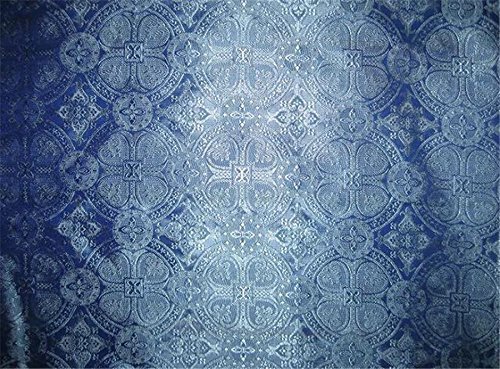 Brokat Liturgische Kleidung Stoff blau/bro125[4] 111,8cm von der Yard, Mode, Puppe Kleid - Brocade Mode