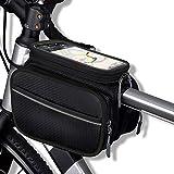 ROCKBROS Waterproof Triangle Bag Large Capacity 4L Front Tube Frame Bag Black