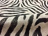 Zebra Haut Animal Print Stoff Leinen Baumwoll-Mischgewebe