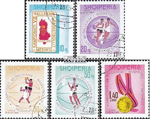 Albanien 1018-1022 (kompl.Ausg.) 1965 Balkanmeisterschaft im Basketball (Briefmarken für Sammler)