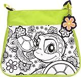 Wild Republic 10716 - Fashion Bag Grün Motiv Aqua zum selbst gestalten mit Schlüsselanhänger, 32 Teile