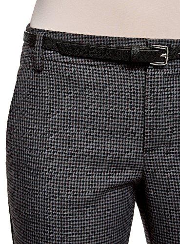 oodji Ultra Donna Pantaloni Basic con Cintura Grigio (2539C)