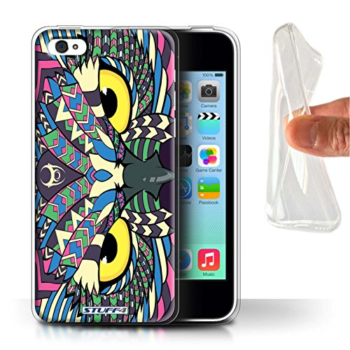 Coque Gel TPU de STUFF4 / Coque pour Apple iPhone 7 Plus / Loup-Bleu Design / Motif Animaux Aztec Collection Hibou-Couleur