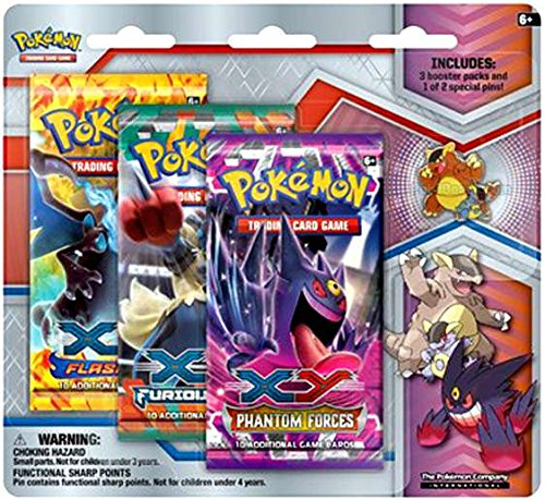 Pokemon X & Y Mega Evolution Mega Kangaskhan Collector Pin Pack by Pokemon X&Y Collectible Trading Card Game