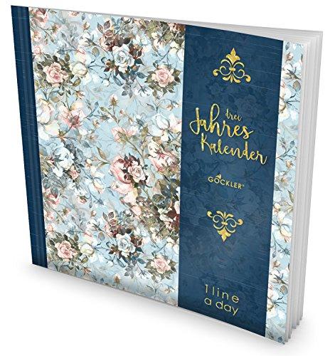 GOCKLER® 3 Jahres Kalender: 190+ Seiten Journal für 3 Jahre || Glänzendes Softcover || Ideal als Tagebuch, Terminplaner, Notizkalender oder Tagesplaner || DesignArt.: Blumig