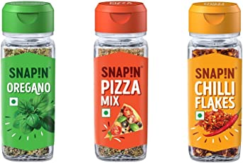Snapin Oregano with Pizza Mix and Chilly Flakes, 100g