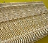 Bambusrollo - Breite 60 bis 140 cm - Länge 160 und 240 cm - Natur Seitenzugrollo Sichtschutz...