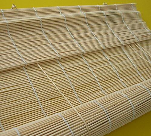 Bambusrollo – Breite 60 bis 140 cm – Länge 160 und 240 cm – Natur Seitenzugrollo Sichtschutz Fenster Tür Rollos Vorhang Holzrollo