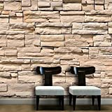 WALPLUS WM19023 - Adesivo da Parete, Motivo: Muro di Pietra Asiatico
