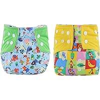 WeiterVor 2 Pcs Bambino Pannolini Nuoto Lavabili Riutilizzabile pantaloncini Costume da bagno Nuotata breve…