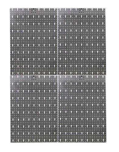 Werkzeugwand Lochwand aus Metall Werkstattwand mit Euro-Lochung 57 x 160 cm aus 4 Teilen -