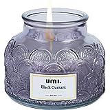 Amazon Brand - Umi Bougie Parfumée, Bougie à la Cire de Soja Naturelle pour Femme, Anniversaires, Noël, Yoga, Bain, Jarre en