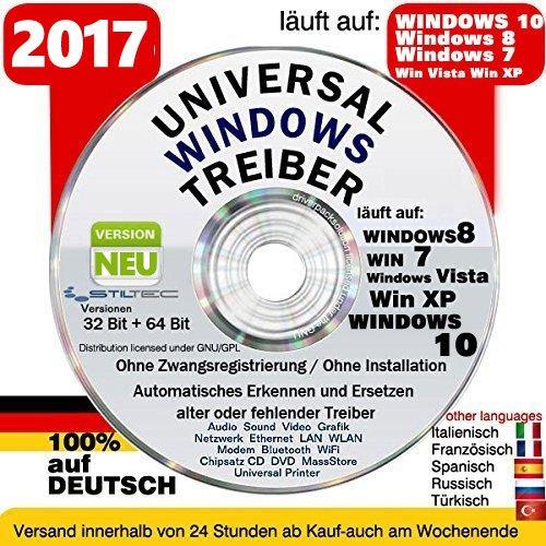 Universal Treiber CD/DVD✔ Windows 10 ® Windows 8 / 7 / Vista / XP (32 & 64Bit)✔ Version 2017✔ ORIGINAL von STILTEC ©