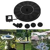 Solar Springbrunnen 1.4W Solar Angetrieben Wasserpumpe Mini Teichpumpe Durchfluss 150L / H Für Gartenteich, Vogel-Bad, Fisch-Behälter