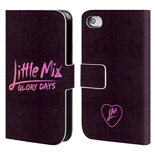 Offizielle Little Mix Kalender Gruppe Kunst Brieftasche Handyhülle aus Leder für Apple iPhone 6 / 6s Glory Days Logo
