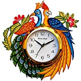 Divinecrafts Wooden Wall Clock For Home Latest Design For Living Room Decorative Wall Clock 13x13 Inch (Multicolor)