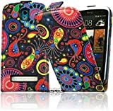 Design Flip Case Tasche mit Circle Motiv für das HTC