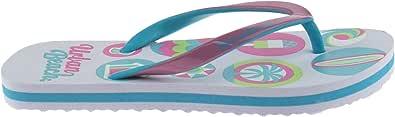 Urban Beach Girls FLIP Flops Size UK 10-2 Thong Beach Sandals White/Pink Seaside FW722