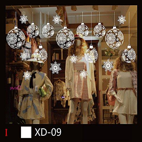 Yallylunn Christmas Snowman Removable Home Vinyl Window Wall Stickers Decal Decor Kreativen Bringen Sie Farbe Und Leben In Ihr Zimmer