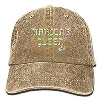 tyui7 Mahjong Queen Mahjongg Mah-Jong Chinese Jewish Game1 Adult Sport Adjustable Baseball Cap Cowboy Hat,One Size