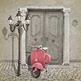 Artland Qualitätsbilder I Poster Kunstdruck Bilder 70 x 70 cm Fahrzeuge Motorräder Roller Digitale Kunst Pink Rosa B1VT Oldtimer Motorroller ColorKey