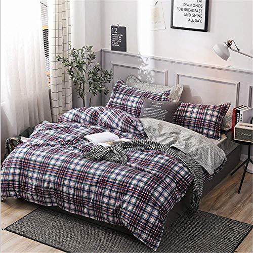 SHJIA Bettwäsche Set Big Size Bettwäsche Baumwolle Bettwäsche Full King Queen Twin Single Bettbezug Bettdecke Tröster Fall A 180x210cm