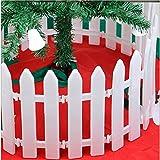 HOMEE Decorazioni Natalizie Recinto Di Natale Recinto Bianco Decorazione Di Natale Decorazione Hotel (Un Pacchetto Di 10),Bianca,30 lunghi e 12 larghi