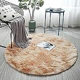 WZDSNDQDY Teppich, Nordischen Farbverlauf Teppich, Runde, Hängenden Korb Stuhl, Zelt Matte Wohnzimmer Matte, 80 * 80 cm